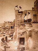 NATIVE AMERICANS E. Curtis photograph, early 20th century, On the House Top (Hopi)