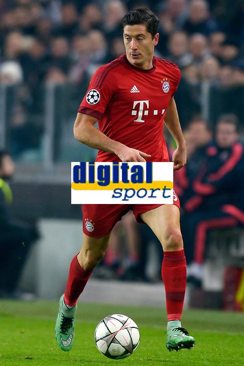 Robert Lewandowski Bayern <br /> Torino 23-02-2016 Juventus Stadium, Football Champions League 2015/2016 Round of 16 Juventus - Bayern Munich / Juventus - Bayern Monaco .  Foto Filippo Alfero / Insidefoto