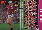 All Ireland Senior Hurling Championship Final, .06.09.1987, 09.06.1987, 6th September 1987, .Kilkenny v Galway, .Galway 1-12, Kilkenny 0-9,.06091987AISHCF, .Senior Kilkenny v Galway,.Minor Tipperary v Offaly,  ..Tony Keady, ..Galway, left to right, Peter Finnerty, Steve Mahon, Brendan Lynskey,