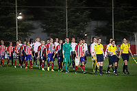 Atletico de Madrid´s players and Olympique Lyonnais´s players before UEFA Women´s Champions League soccer match between Atletico de Madrid and Olympique Lyonnais, in Madrid, Spain. November 11, 2015. (ALTERPHOTOS/Victor Blanco)
