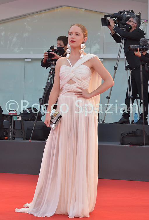 VENICE, ITALY - SEPTEMBER 12:Naian González Norvindwalk the red carpet ahead of closing ceremony at the 77th Venice Film Festival on September 12, 2020 in Venice, Italy.<br /> (Photo by Rocco Spaziani)