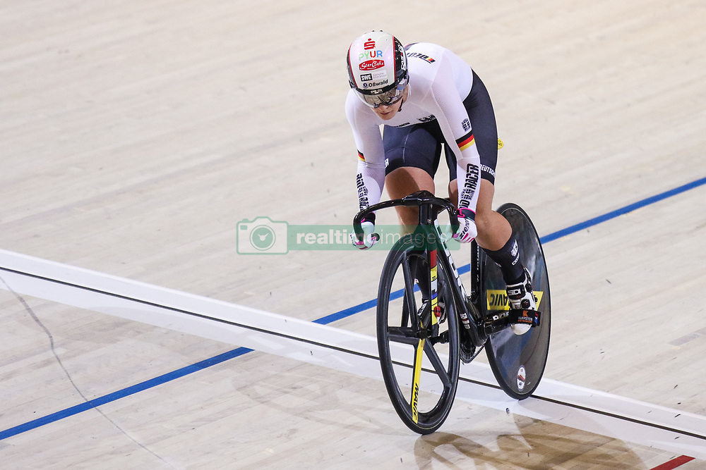 March 1, 2018 - Apeldoorn, Netherlands - Germany's Kristina Vogel  competes at Women's sprint Quarterfinals during UCI Track Cycling World Championships Apeldoorn 2018  in Apeldoorn, the Netherlands on 1st March 2018. The track cycling worlds take place from 28 February to 04 March. (Credit Image: © Foto Olimpik/NurPhoto via ZUMA Press)