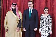 041218 Spanish Royals Attend a lunch with Mohammed Bin Salman Bin Abdulaziz Al-Saud
