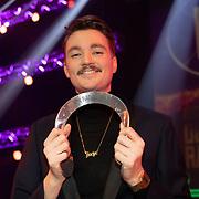 NLD/Hilversum/20200130 - Uitreiking De Gouden RadioRing 2020,  Bram Krikke met de Zilveren RadioSter Man
