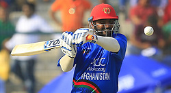 September 20, 2018 - Abu Dhabi, United Arab Emirates - Afghanistan cricketer Mohammad Shahzad plays a shot during the 6th cricket match of Asia Cup 2018 between Bangladesh and Afghanistan at the Sheikh Zayed Stadium,Abu Dhabi, United Arab Emirates on September 20, 2018. (Credit Image: © Tharaka Basnayaka/NurPhoto/ZUMA Press)