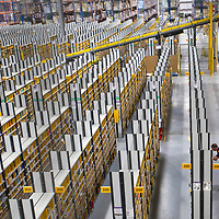 Amazon opens its doors to the public to challenge reports of sweatshop conditions<br /> Amazon Way, DunfermlinePhoto David Cheskin.04.02.19