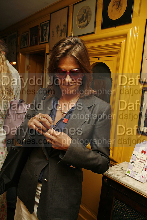 Tracey Emin, Plum Sykes, book launch party, Annabel's, Berkeley Square, London, W1,10 May 2006.  Matthew Williamson, Catherine Vautrin, Laudomia Pucci host party to celebrate 'The Debutante Divorcee'. ONE TIME USE ONLY - DO NOT ARCHIVE  © Copyright Photograph by Dafydd Jones 66 Stockwell Park Rd. London SW9 0DA Tel 020 7733 0108 www.dafjones.com