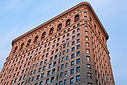 Detail of the Flatiron (Fuller) Building in Manhattan, New York City, New York.