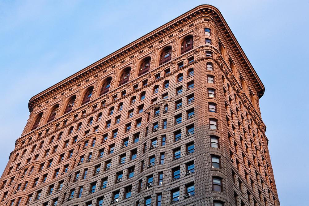 Detail of the Flatiron (Fuller) Building in Manhattan, New York City, New York.