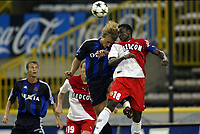 Fotball<br /> Treningskamp 26.07.2003<br /> Brugge / Brügge v Monaco<br /> Bengt Sæternes og Shabani Noda<br /> Foto: Nico Vereecken, Digitalsport
