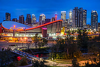 Scotiabank Saddledome & Calgary Skyline