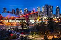 Scotiabank Saddledome & Calgary Skyline