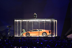 EDITORIAL USE ONLY.<br /><br />Kendrick Lamar performs on stage at the Brit Awards at the O2 Arena, London.