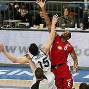 Erdemir's Antywane Frederick Robinson (R) during their Turkish Basketball League match Anadolu Efes between Erdemir at Arena in Istanbul, Turkey, Wednesday, January 28, 2012. Photo by TURKPIX