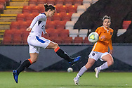 Goal! Glasgow CIty 0 - 3 Rangers, Zoe Ness (#9) of Rangers Women FC chips the advancing keeper during the Scottish Building Society Womens Premier League match between Glasgow City Women and Rangers Women at Broadwood Stadium, Glasgow, Scotland on 13 December 2020.