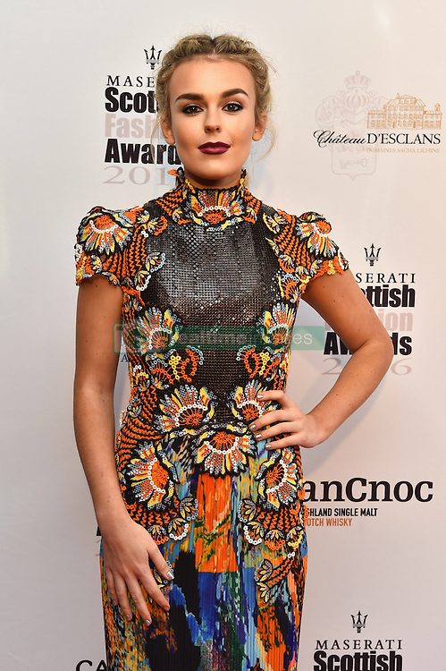 Tallia Storm attending the Scottish Fashion Awards, at the Rosewood Hotel in London. Picture date: Friday October 21, 2016. Photo credit should read: Matt Crossick/ EMPICS Entertainment.