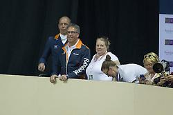 Hans Peter Minderhoud, Wim Ernes, Nicole Werner <br /> Kur<br /> Reem Acra FEI World Cup™ Dressage Final<br /> Las Vegas 2015<br />  © Hippo Foto - Dirk Caremans<br /> 19/04/15