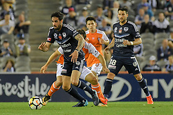 November 11, 2017 - Melbourne, Victoria, Australia - RHYS WILLIAMS (4) of the Victory runs with the ball in the round six match of the A-League between Melbourne Victory and Brisbane Roar at Etihad Stadium, Melbourne, Australia. Melbourne drew 1-1 (Credit Image: © Sydney Low via ZUMA Wire)