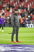 Football - 2018 / 2019 Premier League - Southampton vs. Liverpool<br /> <br /> Liverpool Manager Jurgen Klopp keeps an eye on the Southampton teams warm up as his side prepare for this evenings fixture at St Mary's Stadium Southampton<br /> <br /> COLORSPORT/SHAUN BOGGUST