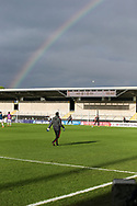 Ground under a rainbow during the UEFA European Under 17 Championship 2018 match between Netherlands and Spain at the Pirelli Stadium, Burton upon Trent, England on 8 May 2018. Picture by Mick Haynes.
