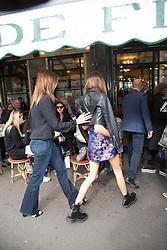 Kaia Gerber and Cindy Crawford leaving their hotel to Cafe de Flare Restaurant against the Paris Fashion Week, Paris, France, September 25 2017. Photo by Nasser Berzane/ABACAPRESS.COM