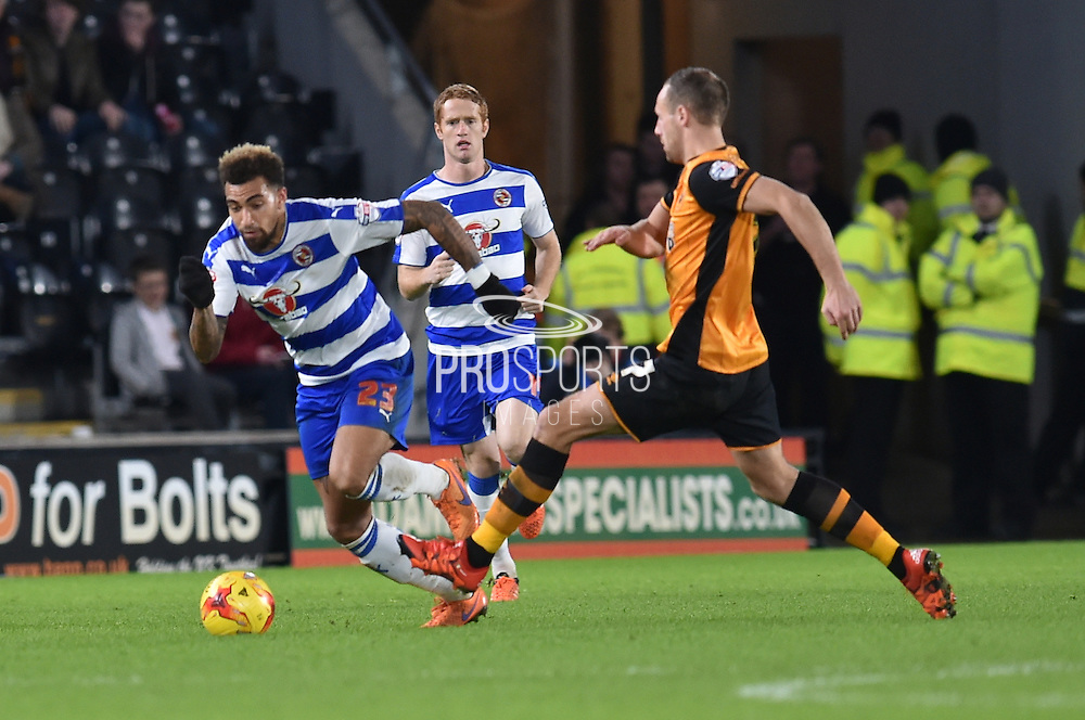 Daniel Williams Reading FC   during the Sky Bet Championship match between Hull City and Reading at the KC Stadium, Kingston upon Hull, England on 16 December 2015. Photo by Ian Lyall.