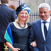 NLD/Den Haag/20130917 -  Prinsjesdag 2013, Minister van Onderwijs, Cultuur en Wetenschap Jet Bussemaker met partner Garth