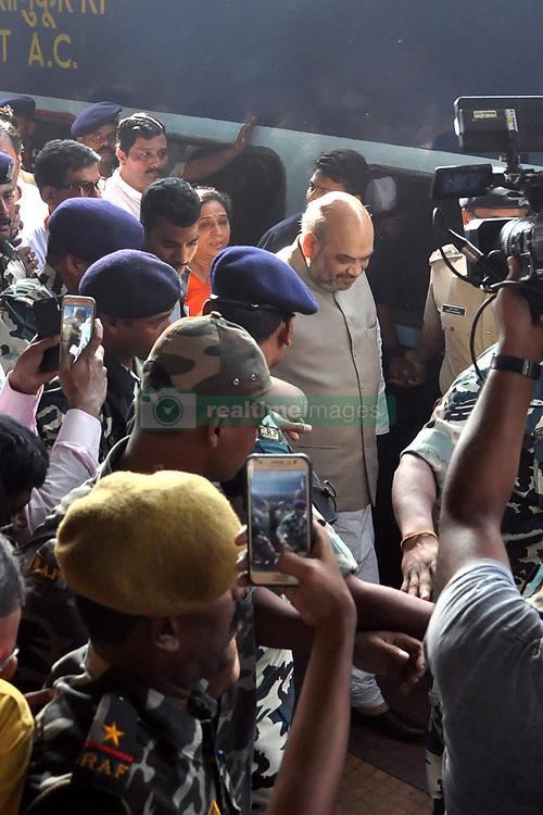 April 26, 2017 - Kolkata, West Bengal, India - National President of Bharatiya Janata Party, Amit Shah arrived at Sealdah Station in Kolkata from Siliguri. (Credit Image: © Saikat Paul/Pacific Press via ZUMA Wire)