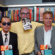 Boekpresentatie Broodje Halfom Bart Chabot, Jules Deelder, Bart en Martin Bril