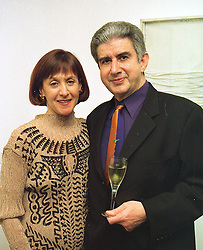 Leading patrons of the arts JANICE BLACKBURN winner of the 1998 Montblanc award and her husband MR DAVID BLACKBURN at a reception in London on 12th March 1998.MGA 7