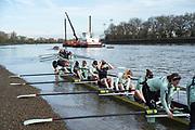 Putney, London,  Tideway Week, Championship Course. River Thames, CUWBC, Boating from Putney Hard [Foreshore] Thames RC.<br /> <br /> Thursday  30/03/2017<br /> [Mandatory Credit; Credit: Peter SPURRIER/Intersport Images.com ]