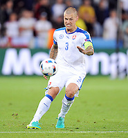 2016.06.20 Saint Etienne<br /> Pilka nozna Euro 2016<br /> mecz grupy B Slowacja - Anglia<br /> N/z Martin Skrtel<br /> Foto Norbert Barczyk / PressFocus<br /> <br /> 2016.06.20 Saint Etienne<br /> Football UEFA Euro 2016 group B game between Slovakia and England<br /> Martin Skrtel<br /> Credit: Norbert Barczyk / PressFocus