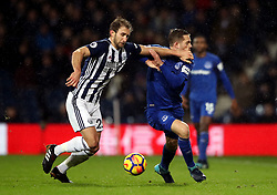 West Bromwich Albion's Craig Dawson (left) and Everton's Gylfi Sigurdsson battle for the ball during the Premier League match at The Hawthorns, West Bromwich.