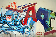 Graffiti in Dashanzi, one of China's artist's neighborhoods. China's art scene is becoming popular among foreign art collectors pushing prices higher.