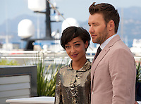 Irish-Ethiopian Actress Ruth Negga with Actor Joel Edgerton at the Loving film photo call at the 69th Cannes Film Festival Monday 16th May 2016, Cannes, France. Photography: Doreen Kennedy