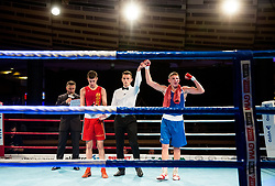 Tomi Lorencic  of Slovenia (BLUE) won against Marcel Meinl of Austria (RED) in Elite 64 kg Category during Dejan Zavec Boxing Gala event in Sentilj, on September 30, 2017 in Mond, Casino & Hotel, Sentilj, Slovenia. Photo by Vid Ponikvar / Sportida