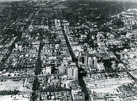 1928 Looking west at Hollywood & Hollywood Blvd.