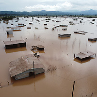Flooded housing at Tres Reyes. Between San Pedro Sula and Tegucigalpa at Tres Reyes, Pimienta was flooded during hurricane Iota, the water came at 2am, a lot of people were prepared, but flash flooding caught many by surprise and they lost all their belongings.