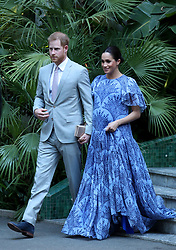 File photo dated 25/02/19 of the Duke and Duchess of Sussex leaving the residence of the the King of Morocco in Rabat, following an audience with him. The Duchess of Sussex is counting down the days to the arrival of her first child.
