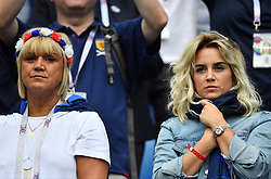 Antoine Griezmann's wife Erika Choperena with Isabelle mother of Antoine Griezmann during the FIFA World Cup 2018 Round of 8 match at the Nizhny Novgorod Stadium Russia, on July 6, 2018. . Photo by Christian Liewig/ABACAPRESS.COM