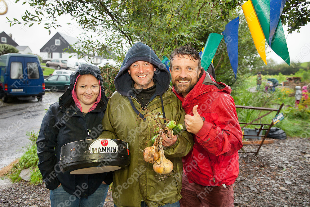 Charlotte Muller, Gerry Quin & Stuart Curran at the Community Garden in Moy
