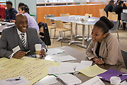 Purchase, NY – 31 October 2014. Morgan Stanley facilitator and Mount Vernon High School tem member Mikala Bell. The Business Skills Olympics was founded by the African American Men of Westchester, is sponsored and facilitated by Morgan Stanley, and is open to high school teams in Westchester County.