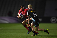 Rugby Union - 2020 / 2021 European Rugby Challenge Cup - Round of 16 - Harlequins vs Ulster - The Stoop<br /> <br /> Ulster Rugby's Rob Baloucoune takes on Harlequins' Tyrone Green.<br /> <br /> COLORSPORT/ASHLEY WESTERN