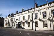 Historic Srand Hotel building in the town centre of Calne, Wiltshire, England