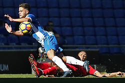 January 20, 2018 - Barcelona, Spain - Oscar Melendo during the La Liga match between RCD Espanyol and Sevilla FC played in the RCDEstadium, in Barcelona, on January 20, 2018. Photo: Joan Valls/Urbanandsport/Nurphoto  (Credit Image: © Joan Valls/NurPhoto via ZUMA Press)