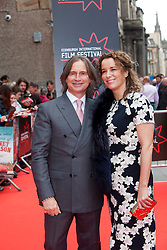 """Robert Carlyle with his wife Anastasia Shirley. Opening Night Gala and World Premiere of """"The Legend of Barney Thompson"""", Edinburgh International Film Festival 17 - 28 June 2015."""