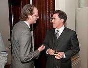NICK BARRINGTON-WELLS; ROB BRYDEN, Langham Hotel party after a major renovation. Portland Place, London. 10 June 2009