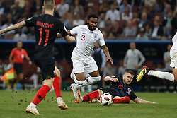 July 11, 2018 - Moscow, Vazio, Russia - Ivan STRINIC of Croatia and Ashley YOUNG of England during match between England and Croatia valid for the semi final of the 2018 World Cup, held at the Lujniki Stadium in Moscow in Russia. Croatia wins 2-1. (Credit Image: © Thiago Bernardes/Pacific Press via ZUMA Wire)