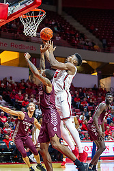 NORMAL, IL - November 10:Rey Idowu during a college basketball game between the ISU Redbirds and the Little Rock Trojans on November 10 2019 at Redbird Arena in Normal, IL. (Photo by Alan Look)