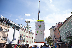 19.09.2015, Hauptplatz,Lienz, AUT, Free Solo Masters, Qualifikation, im Bild Christopher Marinelli (AUT, OeAV Matrei in Osttirol) // during the qualifying of the Free Solo Masters at the Hauptplatz in Lienz, Austria on 2015/09/19. EXPA Pictures © 2015, PhotoCredit: EXPA/ Johann Groder